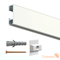 Rail cimaise click 200cm + clips de fixation + vis & chevilles - Imagine-It