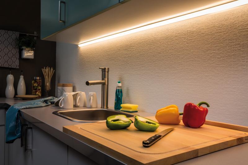 Préférence Kit Bandeau LED MaxLED 500 blanc chaud corniche éclairage indirect SQ22