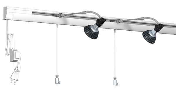 cimaise et clairage sur rail combi pro light artiteq. Black Bedroom Furniture Sets. Home Design Ideas