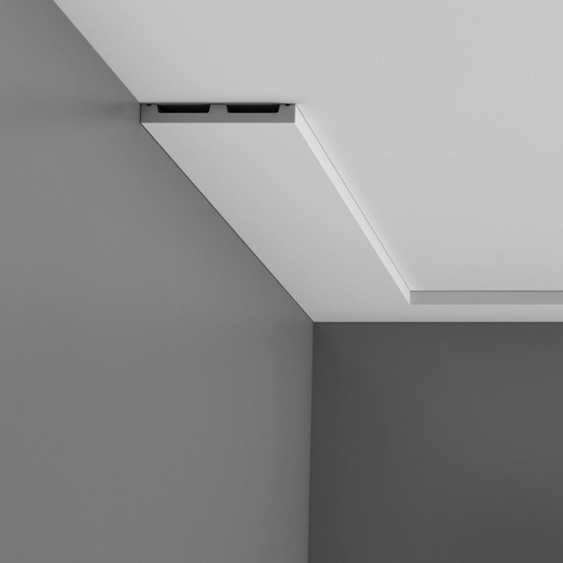 Moulure multifonctionnelle axxent orac decor dx163 2300 for Decoupe angle corniche