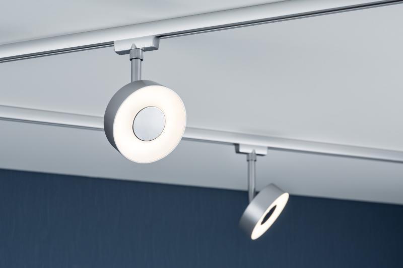 eclairage tableau eclairage sur rail plafond led spot circle 5w paulmann. Black Bedroom Furniture Sets. Home Design Ideas