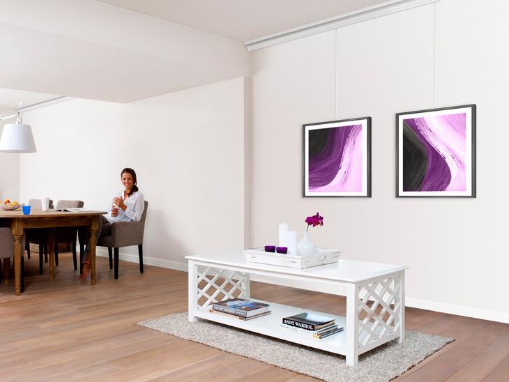 galerie photos cimaise et accrochage tableau artiteq mises en situations cimaise moulure. Black Bedroom Furniture Sets. Home Design Ideas