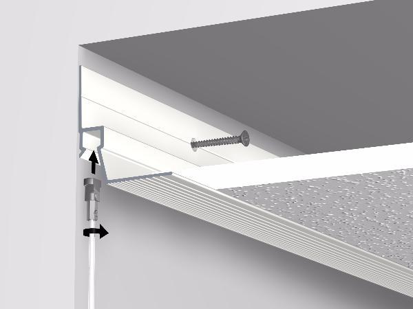 cimaises ceiling strip rail 300 cm faux plafond artiteq. Black Bedroom Furniture Sets. Home Design Ideas