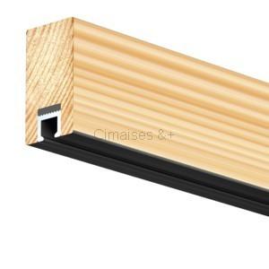 cimaises top rail 200cm art teq pour accrochage au plafond. Black Bedroom Furniture Sets. Home Design Ideas