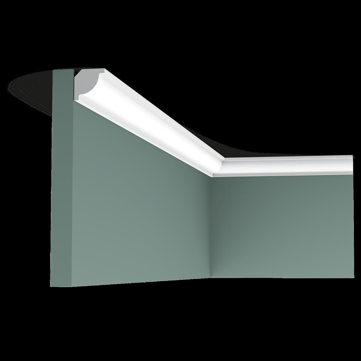 Goulotte Pour Plafond cx132 corniche plafond orac decor axxent - 2x2x200cm (h x p x l) - moulure  décorative