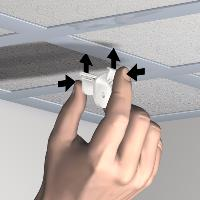 Pack 10 pinces pour suspension plafond