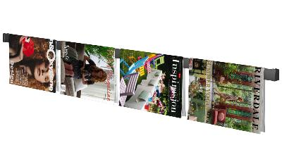 Magazine Rail + fixations - suspension de magazines et catalogues sur un mur - Artiteq