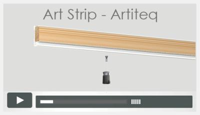 galerie vid o de montage de rail cimaise par cimaises. Black Bedroom Furniture Sets. Home Design Ideas