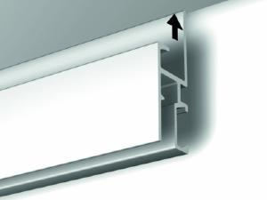 Rail cimaise gallery click r30 newly sp cialement con u for Peindre aluminium anodise
