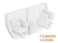 Pack 4 embouts d'arrêt cimaise Click Up Rail