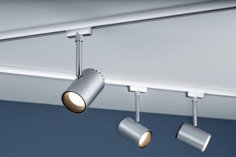 eclairage tableau eclairage sur rail plafond led spot shine 5w paulmann. Black Bedroom Furniture Sets. Home Design Ideas
