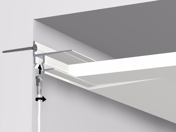 Cimaises shadowline masonry murs durs 250 cm artiteq for Suspension faux plafond
