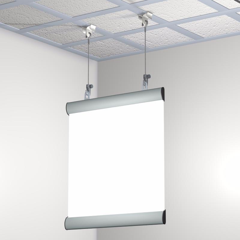 Pack 10 pinces pour suspension faux plafonds - Poser une tringle a rideau au plafond ...