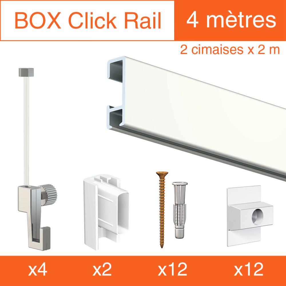 Accrocher Un Tableau Lourd Au Mur cimaise box artiteq click Éco - kit accrochage tableau