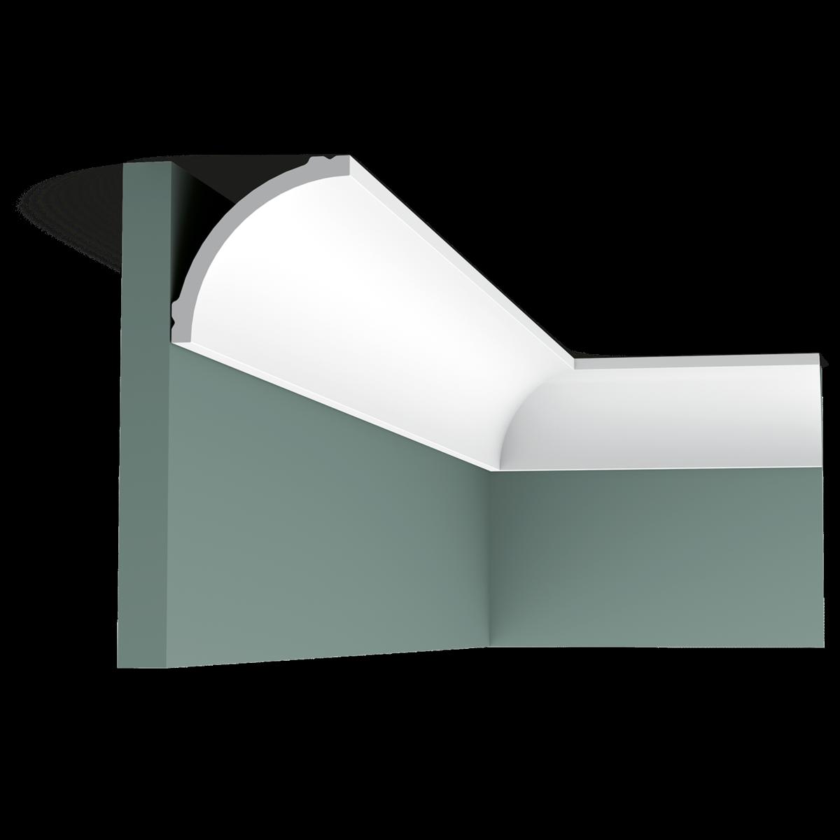 Corniche Polystyrène Pour Led cb524 carton complet de 32 m de corniches plafond orac decor polystyrène -  9x9x200cm (h x p x l)