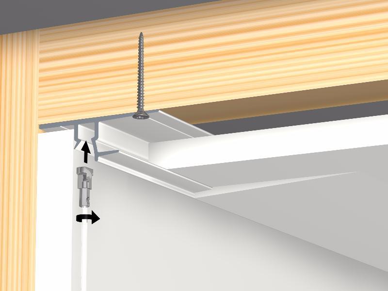 Cimaise ceiling strip rail 300 cm faux plafond artiteq for Rail faux plafond suspendu
