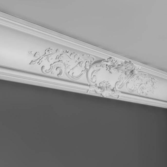 Corniche moulure de plafond luxxus orac decor pour deco rail c338a - Corniche de plafond polyurethane ...