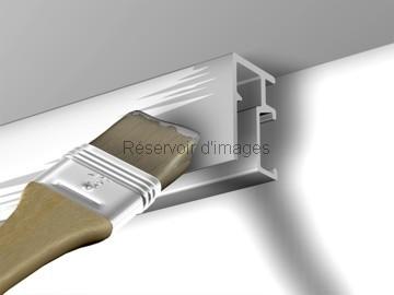 Rail cimaise mini click r10 newly pour accrocher vos for Peindre aluminium anodise