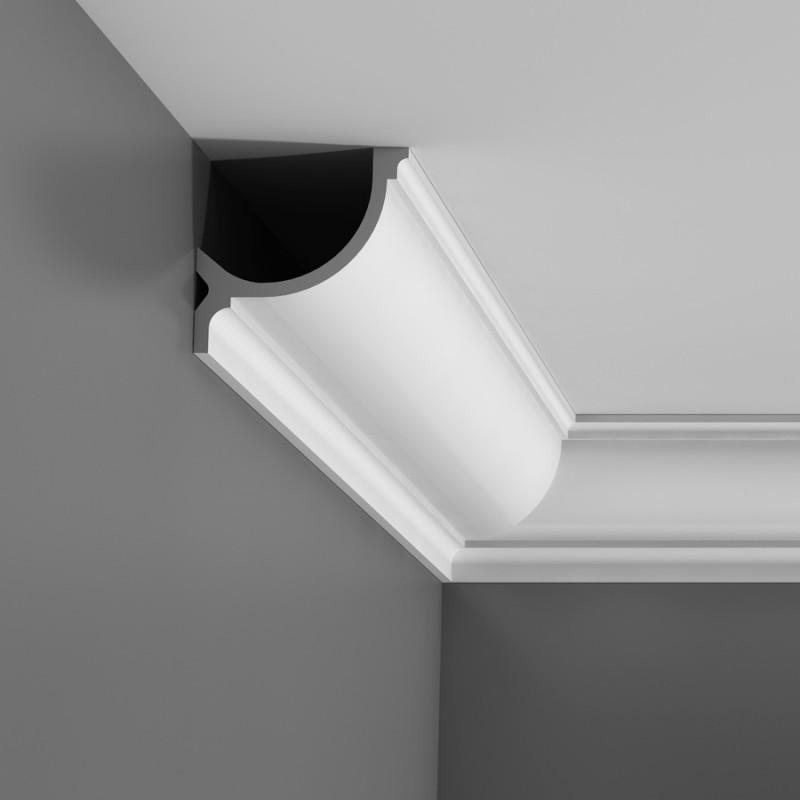 corniche décorative moulure éclairage indirect mur et plafond luxxus