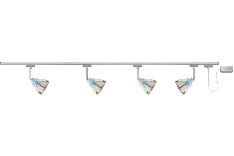 eclairage tableau eclairage sur rail plafond halog ne kit eclairage u rail dichroic 4x40w paulmann. Black Bedroom Furniture Sets. Home Design Ideas