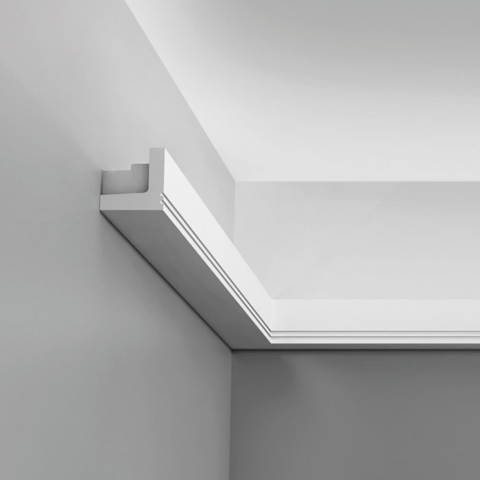 corniche plafond avec led elegant ides originales du clairage indirect led pour le plafond with. Black Bedroom Furniture Sets. Home Design Ideas